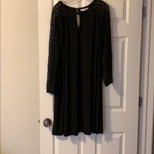 Black Dress w/ Lace Sleeves
